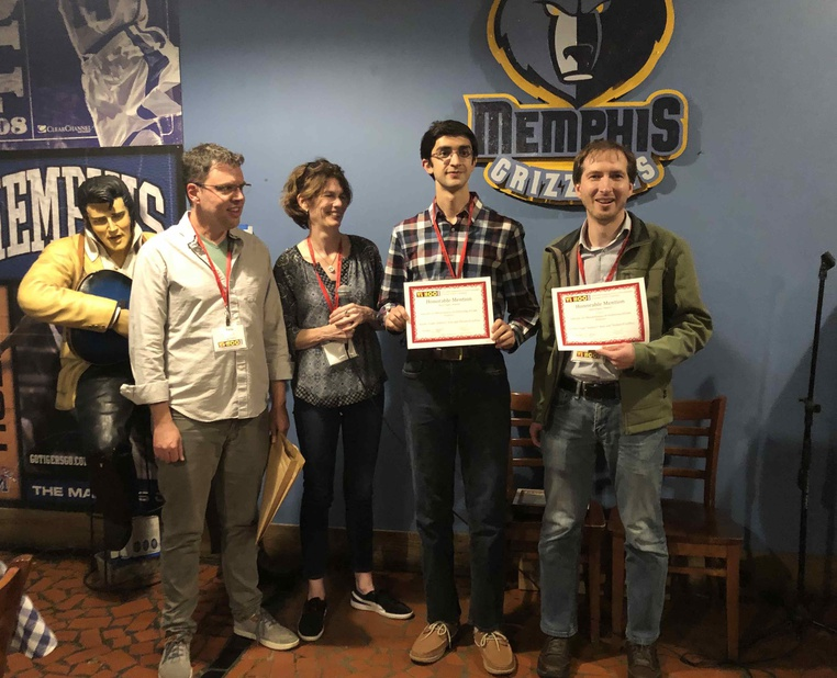 Post Image: High School Student (Chugh) and undergraduate (Solis) mentored by Prof. Latoza win the best paper honorable mention award at VL/HCC.